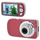 "110DC 3.0"" TFT 16MP CMOS 5X Optical Zoom Digital Camera w/ SD Slot - Red + Silver"