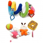 Cute Colorful Animals Style Baby Bed Hanging Music Plush Toys