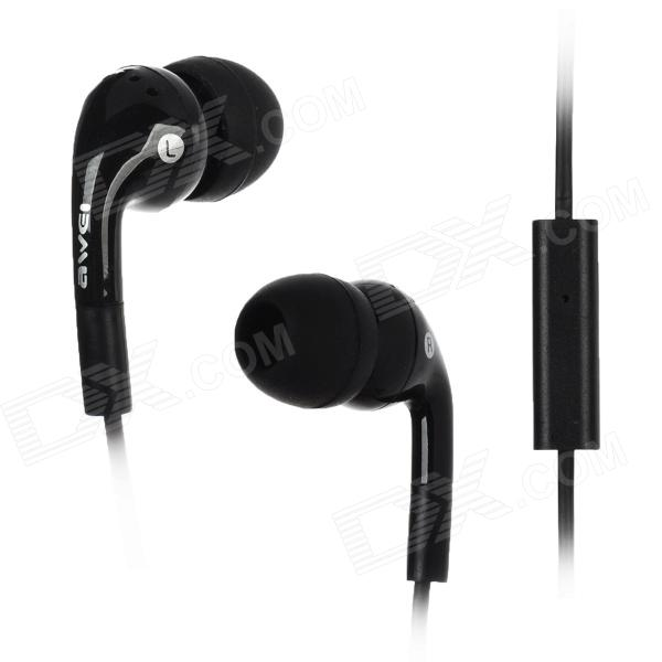 Q9i In-Ear Earphones w/ Microphone for Ipad / Iphone / HTC / Blackberry - Black (3.5mm Plug / 112cm)