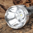 NEW-C8 800lm 2-Mode White Flashlight - Black + Silver (1 x 18650)