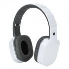 BH260 Folding Bluetooth V2.1 Stereo Headphones w/ Microphone - White + Grey