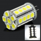G4 4W12V 3200K 30-SMD 5050 Warm White Light Bulb - Weiß + Gelb (DC 12V)