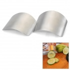 FUSHEN FEL0439 Stainless Steel Chopping Finger Protectors - Silver (2 PCS)