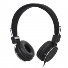 850 Folding Headphones w/ Microphone for iPhone / Blackberry / HTC - Black (3.5mm Plug / 150cm)