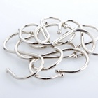 """S"" Style Stainless Steel Hooks Set - Silver (5 Pairs)"