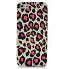 Fashion Leopard Pattern Protective Plastic Back Case for Iphone 5 - Pink + Black