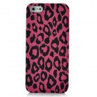 Fashion Leopard Pattern Protective Kunststoff zurück Fall für iPhone 5 - Deep Pink + Black