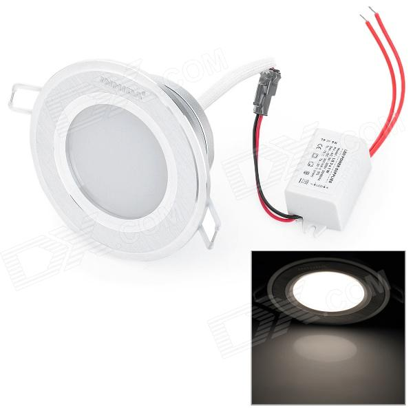 INHIDA IHD-X03A009W 3W 255lm 6000K-6500K White Light Lampe LED - Argent (85 ~ 265V)