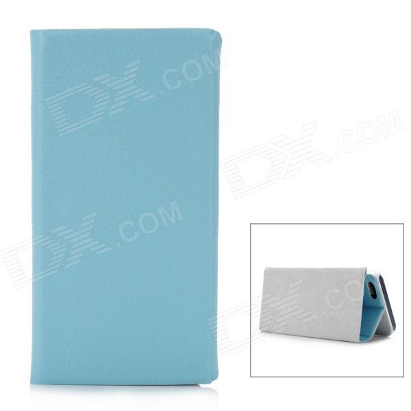 Protective Flip-Open PU Leather Case for Iphone 5 - Sky Blue