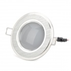 INHIDA IHD-X03A009W 3W 255lm 6500K White Ceiling Light Lamp w/ LED Driver - Silver (AC 110~240V)