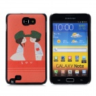 Cute Lovers Pattern for Samsung Galaxy Note II N7100