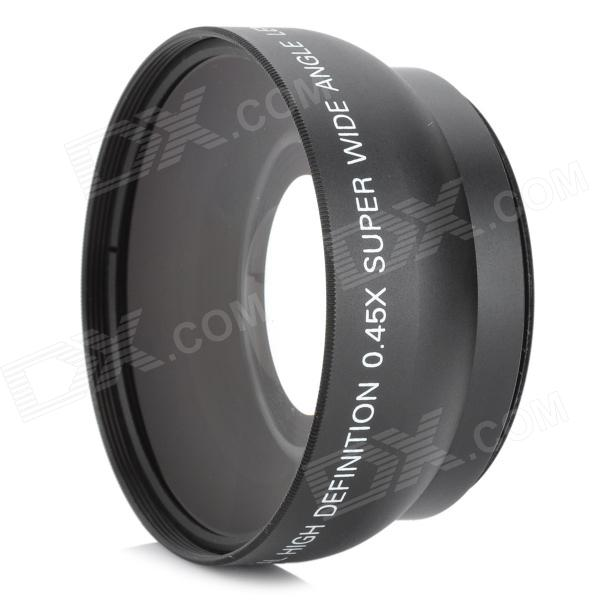 52mm 0.45X Wide Angle + Macro Conversion Lens - Black 52mm 0 45x pro digital precision camera wide angle conversion lens w macro black