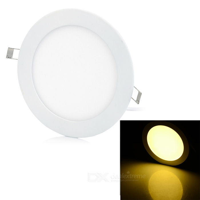 12W 860lm 3500K 60-SMD 2835 LED Warm White Light Ceiling Lamp - White (AC 90~265V) 18w 3500k 1480lm 90 smd 2835 led warm white ceiling light w driver white ac 90 265v