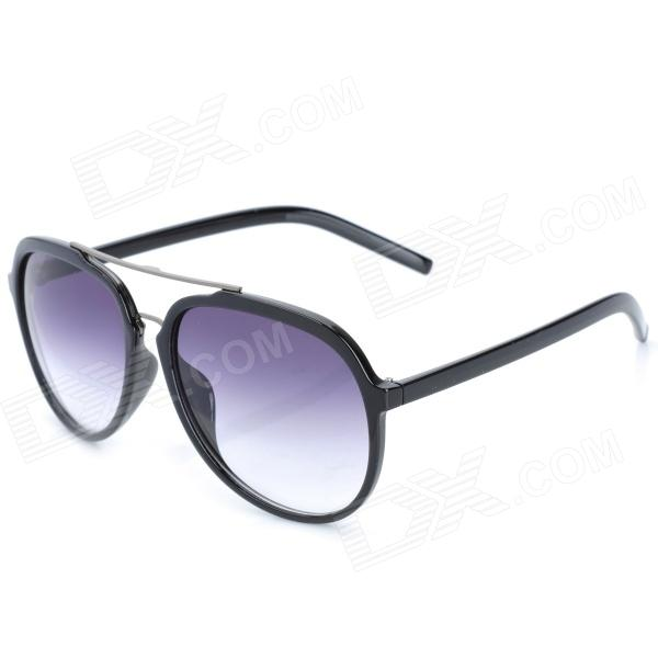 CARSHIRO 122S Fashion UV400 Protection Resin Lens Sunglasses - Black carshiro 77267 fashion retro style uv400 protection grey resin lens sunglasses white purple