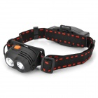 067 Cree XP-G R5 + LED 348lm 5-Mode White Headlamp - Black (1 x 18650)