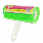 Multifunction Handheld Clothing Lint Duster Roller Remover - Green + White