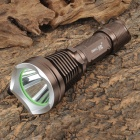 SMALL SUN ZY-T66 Cree XM-L T6 454lm 5-Mode White Flashlight - Dark Brown + Silver (1 x 18650)