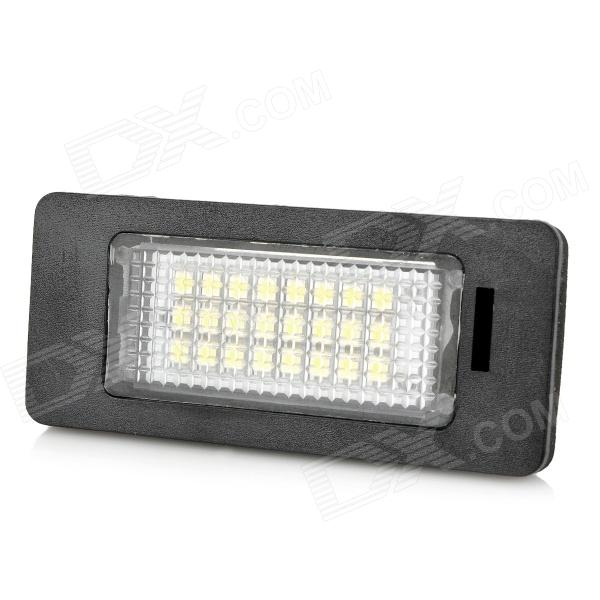 HY-E82 E88 3W 168lm 24-SMD 3528 SMD LED White Light License Plate Lamps for BMW (DC 12~30V / 2PCS) 2x e marked obc error free 24 led white license number plate light lamp for bmw e81 e82 e90 e91 e92 e93 e60 e61 e39 x1 e84