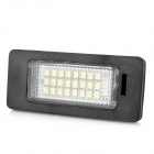 HY-E82 E88 3W 168lm 24-SMD 3528 SMD LED White Light License Plate Lamps for BMW (DC 12~30V / 2PCS)
