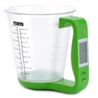 Digital Capacity Measuring Cup w/ Thermometer / Scale - Green