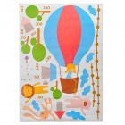 JM8264 Decorative Hot Air Balloon Style PVC Wall Paper Sticker - Blue + Yellow (50 x 70cm)
