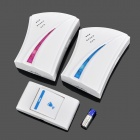 Wireless Remote Control Music Doorbell - White + Red + Blue