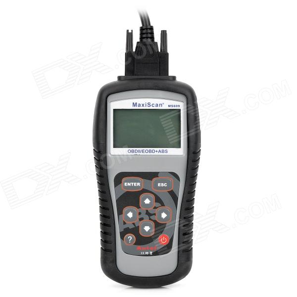 MaxiScan MS609 2.8 LCD Code Scanner Reader Diagnostic Tool for BMW / General + More - Grey + Black