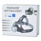 YP-3009 Cree XM-L T6 800~950lm 3-Mode White Bicycle Headlamp - Black (2 x 18650)