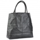 Fashion PU Leather Hand Bag - Black