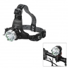 YP-3010 Cree XM-L T6 800~950lm 3-Mode White Bicycle Headlamp - Black + Silver (2 x 18650)