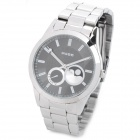 Wilon 805 Men's Fashion Quartz Wrist Watch - Silver + Black (1 x SR626SW)