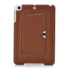Protective PU Leather Case w/ Stand for iPad Mini - Brown + White