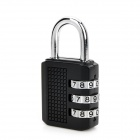 Mini 3-Digit Zinc Alloy Security Resettable Combination Lock - Black
