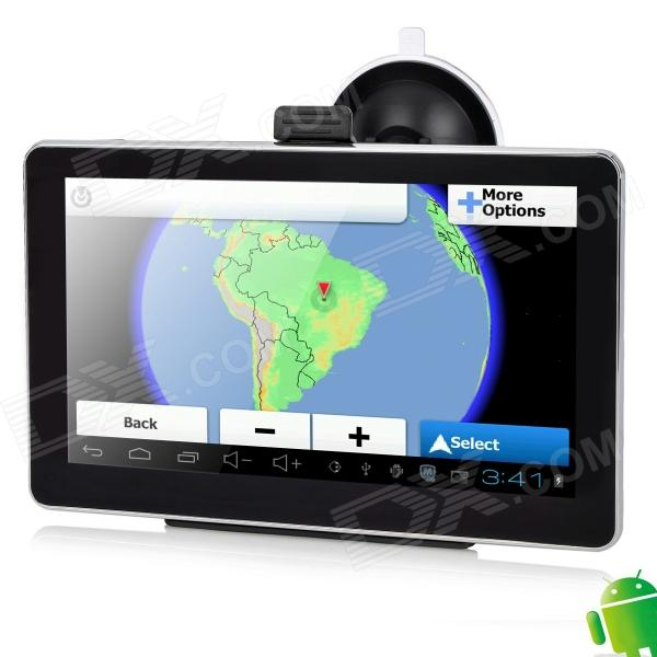 M6026AV 7 Resistive Screen Android 4.0 GPS Navigator w/ AV-In / 8GB / Brazil + Argentina Map 5 resistive touch screen win ce 5 0 gps navigator w bluetooth fm transmitter 4gb brazil map tf