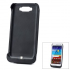 External 3600mAh Emergency Power Battery Plastic Back Case for Samsung Galaxy Note 2 N7100 - Black