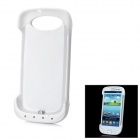 External 3200mAh Emergency Power Battery Plastic Back Case for Samsung Galaxy S3 i9300 - White