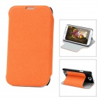 Protective PU Leather Case for Samsung Galaxy Note II N7100 - Orange + Black