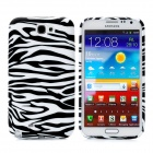 Zebra Pattern Protective Soft Silicone Back Case for Samsung Galaxy Note II N7100 - Black + White