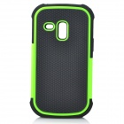 Detachable Protective Back Case for Samsung Galaxy S3 Mini - Black + Green