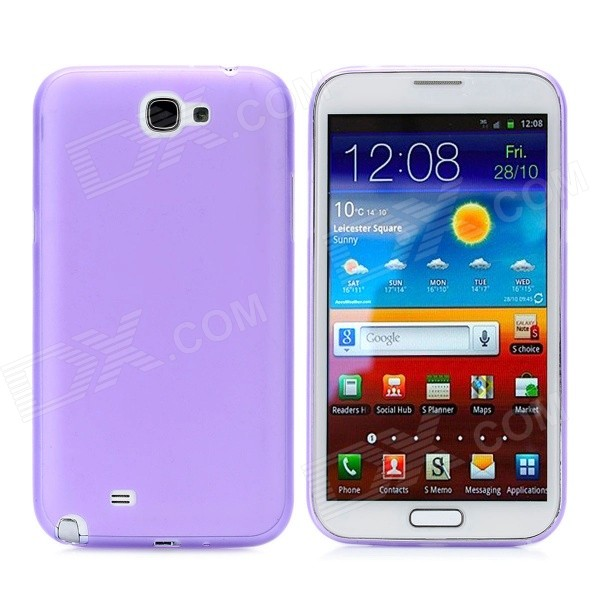 0.4mm Ultrathin Protective PC Back Case for Samsung Galaxy Note II N7100 - Purple pudini wb note 3 protective pc back case for samsung galaxy note 3 white