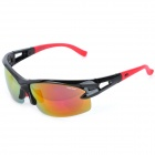 CARSHIRO 9350-1 Sports Bike Riding UV400 Protection Resin Lens Polarized Sunglasses - Black + Red