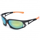 CARSHIRO JL001 Sports UV400 Protection Resin Lens Polarized Sunglasses - Black + Orange