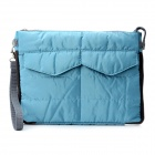 Protective Nylon Soft Case Sleeve Bag w/ Strap for iPad / Tablet PC - Blue
