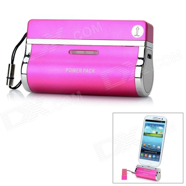 Universal External 2800mAh Emergency Power Battery Charger w/ Micro USB Port - Deep Pink fonemax x power cactus car charger w 3 port usb