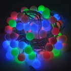 Ball Shape 2W 50-LED Holiday Christmas Decorative 7-Color Strip Light - White (110~250V / US Plug)
