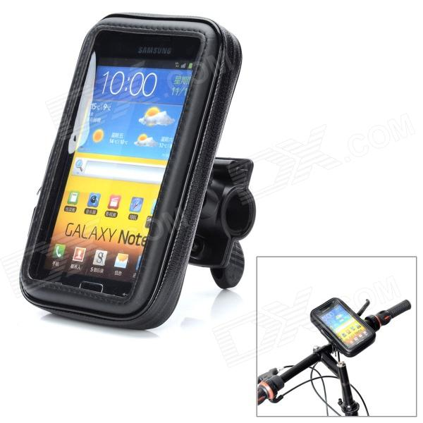 Bike Protective Waterproof Bag w/ Mounting Holder for Samsung Galaxy Note i9220 / N7100 - Black mhl docking station for samsung galaxy note i9220 black silver