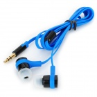 SMZ Stylish Flat In-Ear Earphones - Blue + Black (3.5mm Plug / 110cm)