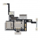 Replacement SIM Card Socket Holder Flex Cable for LG P880 Optimus 4X HD - Black + Silver