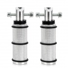 Aluminum Alloy Motorcycle Rear Back Pedals - Silver + Black (2 PCS)