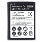 Replacement 3.7V 3500mAh Battery for Samsung Galaxy Note II N7100 - Black